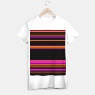 Thumbnail image of Halloween with style - elegant stripes in holiday colors T-shirt regular, Live Heroes