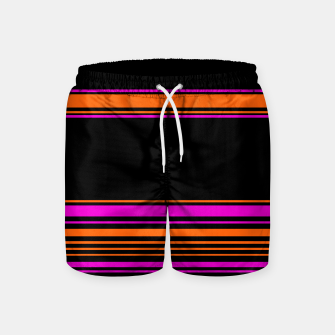Imagen en miniatura de Halloween with style - elegant stripes in holiday colors Swim Shorts, Live Heroes