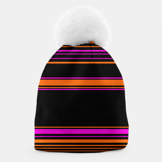 Imagen en miniatura de Halloween with style - elegant stripes in holiday colors Beanie, Live Heroes