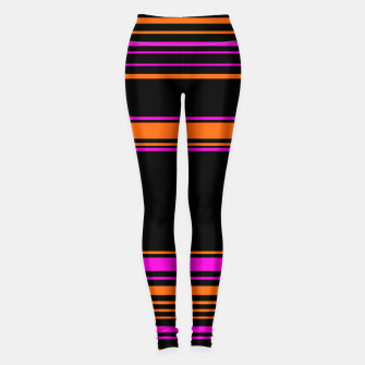 Thumbnail image of Halloween with style - elegant stripes in holiday colors Leggings, Live Heroes