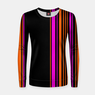 Imagen en miniatura de Halloween with style - elegant stripes in holiday colors Women sweater, Live Heroes