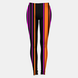 Imagen en miniatura de Halloween with style - elegant stripes in holiday colors Leggings, Live Heroes