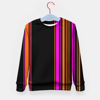 Imagen en miniatura de Halloween with style - elegant stripes in holiday colors Kid's sweater, Live Heroes