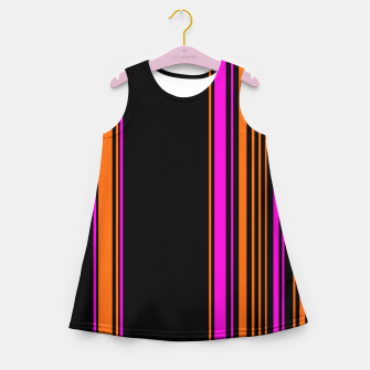 Imagen en miniatura de Halloween with style - elegant stripes in holiday colors Girl's summer dress, Live Heroes