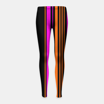 Imagen en miniatura de Halloween with style - elegant stripes in holiday colors Girl's leggings, Live Heroes