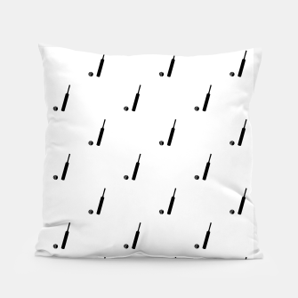 Miniaturka Black and White Cricket Sport Motif Print Pattern Pillow, Live Heroes