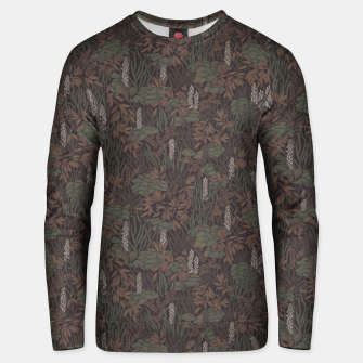Thumbnail image of Earthy brown tropical lush Unisex sweater, Live Heroes