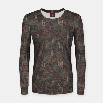 Thumbnail image of Earthy brown tropical lush Women sweater, Live Heroes
