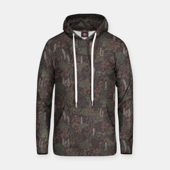 Thumbnail image of Earthy brown tropical lush Hoodie, Live Heroes