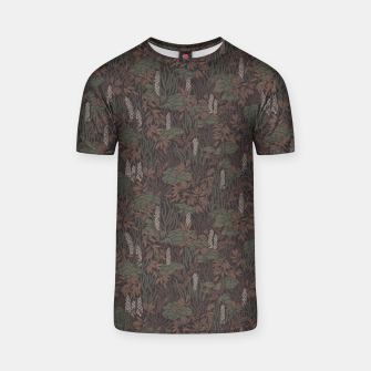 Thumbnail image of Earthy brown tropical lush T-shirt, Live Heroes
