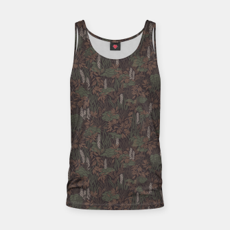 Thumbnail image of Earthy brown tropical lush Tank Top, Live Heroes