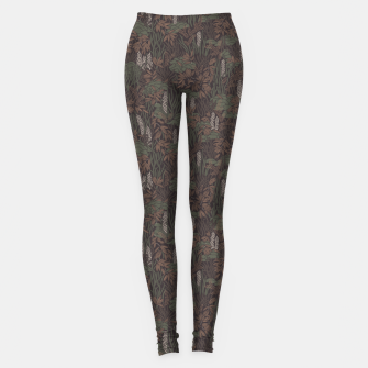 Thumbnail image of Earthy brown tropical lush Leggings, Live Heroes