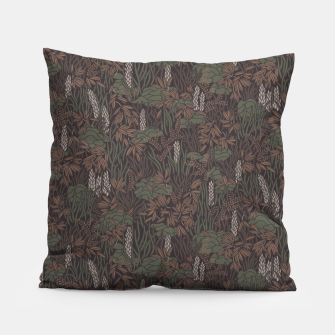 Thumbnail image of Earthy brown tropical lush Pillow, Live Heroes