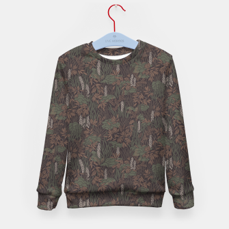 Thumbnail image of Earthy brown tropical lush Kid's sweater, Live Heroes