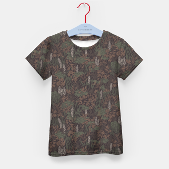 Thumbnail image of Earthy brown tropical lush Kid's t-shirt, Live Heroes
