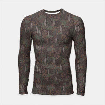 Thumbnail image of Earthy brown tropical lush Longsleeve rashguard , Live Heroes