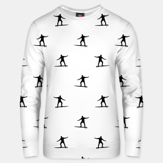 Thumbnail image of Surfing Motif Graphic Print Pattern Unisex sweater, Live Heroes