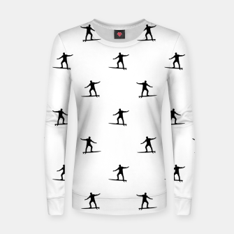 Thumbnail image of Surfing Motif Graphic Print Pattern Women sweater, Live Heroes