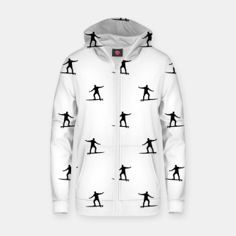 Thumbnail image of Surfing Motif Graphic Print Pattern Zip up hoodie, Live Heroes
