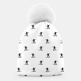 Thumbnail image of Surfing Motif Graphic Print Pattern Beanie, Live Heroes