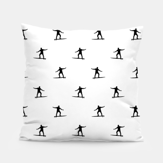 Thumbnail image of Surfing Motif Graphic Print Pattern Pillow, Live Heroes