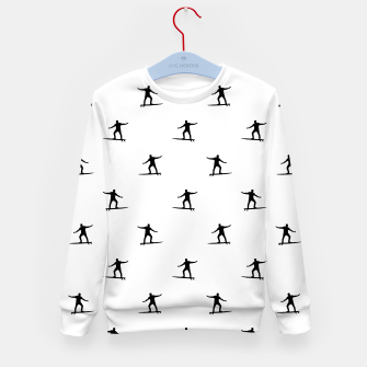 Thumbnail image of Surfing Motif Graphic Print Pattern Kid's sweater, Live Heroes