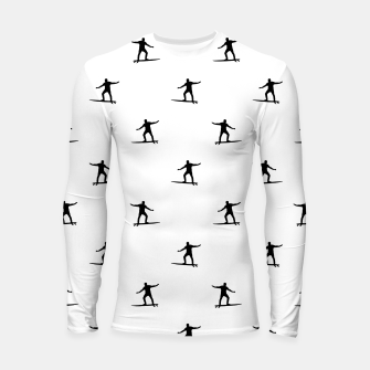 Thumbnail image of Surfing Motif Graphic Print Pattern Longsleeve rashguard , Live Heroes
