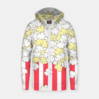 Thumbnail image of Buttered Popcorn Zip up hoodie, Live Heroes