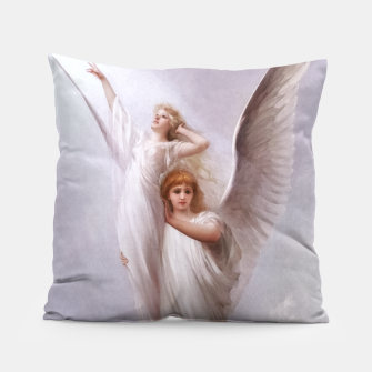 The Human Soul by Luis Ricardo Falero Old Masters Classical Art Reproduction Pillow thumbnail image