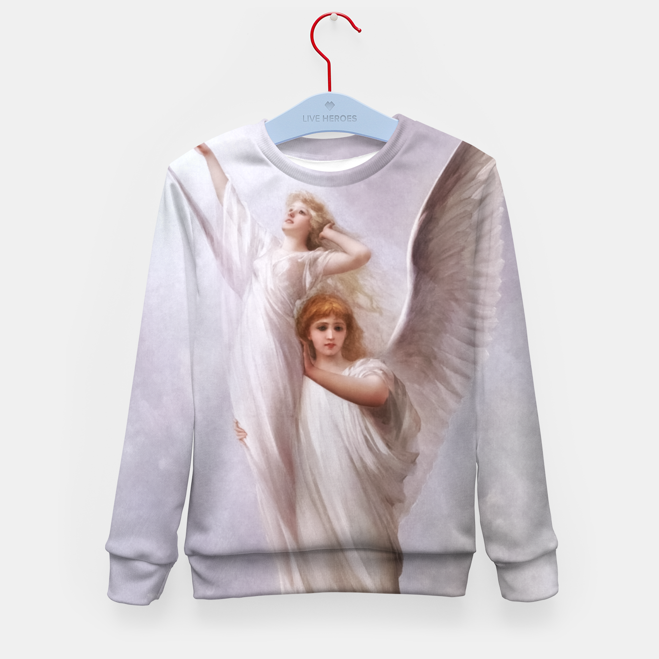 Image of The Human Soul by Luis Ricardo Falero Old Masters Classical Art Reproduction Kid's sweater - Live Heroes