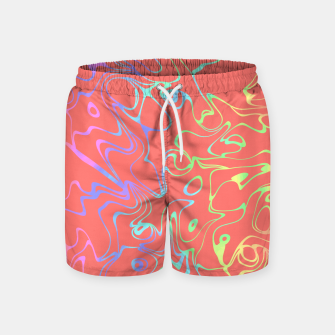 Miniatur Coral Abstract Swim Shorts, Live Heroes