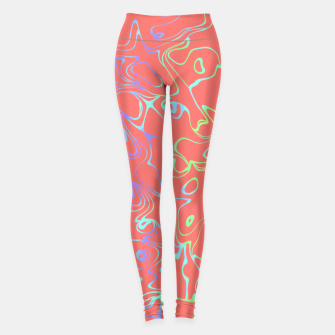 Miniatur Coral Abstract Leggings, Live Heroes