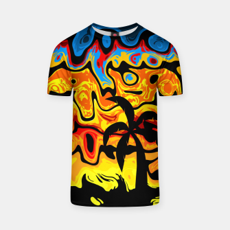 Thumbnail image of Abstract Summer Sunset T-shirt, Live Heroes