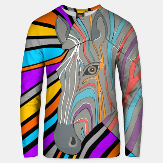 Thumbnail image of Psychedelic Zebra Unisex sweater, Live Heroes