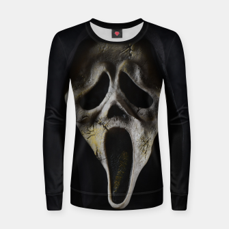 Thumbnail image of Scared Face Women sweater, Live Heroes