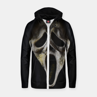 Thumbnail image of Scared Face Zip up hoodie, Live Heroes