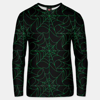 Thumbnail image of Gothic Halloween Spider Web Green Unisex sweater, Live Heroes