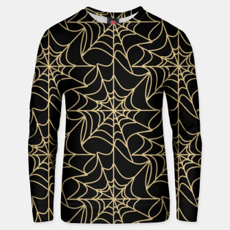Thumbnail image of Gothic Halloween Spider Web Gold Unisex sweater, Live Heroes