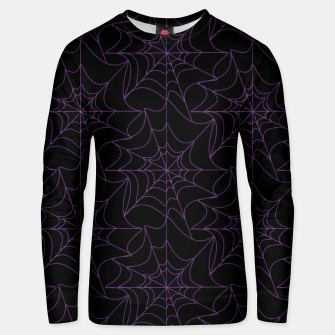 Thumbnail image of Gothic Halloween Spider Web Purple Unisex sweater, Live Heroes