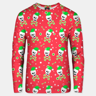 Thumbnail image of Christmas Skull And Bones Unisex sweater, Live Heroes