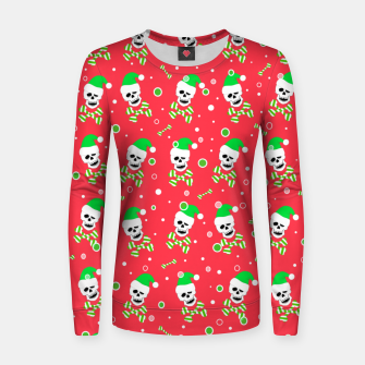 Miniatur Christmas Skull And Bones Women sweater, Live Heroes