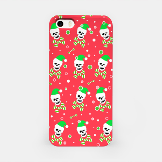 Miniatur Christmas Skull And Bones iPhone Case, Live Heroes