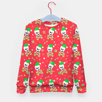 Thumbnail image of Christmas Skull And Bones Kid's sweater, Live Heroes