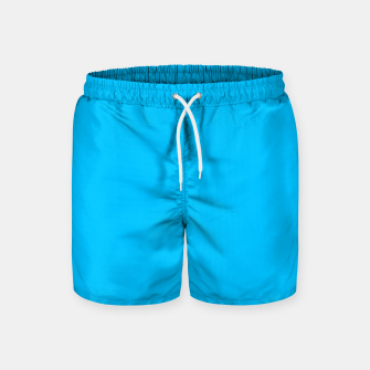 Thumbnail image of color deep sky blue Swim Shorts, Live Heroes