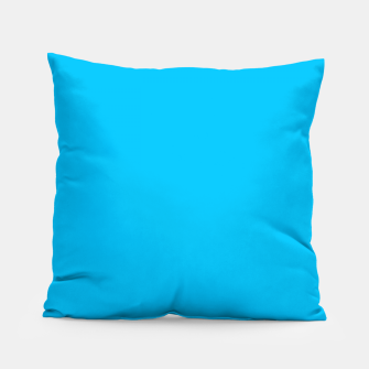 Thumbnail image of color deep sky blue Pillow, Live Heroes