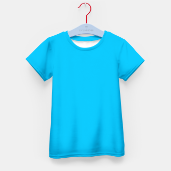 Thumbnail image of color deep sky blue Kid's t-shirt, Live Heroes