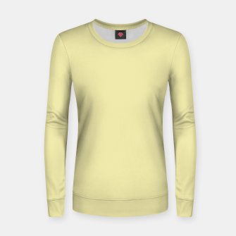 Miniatur color pale goldenrod Women sweater, Live Heroes