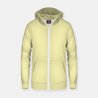 Miniatur color pale goldenrod Zip up hoodie, Live Heroes