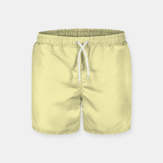 Miniatur color pale goldenrod Swim Shorts, Live Heroes