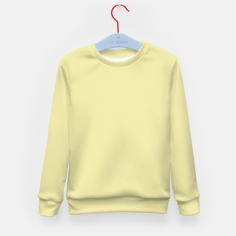 Miniatur color pale goldenrod Kid's sweater, Live Heroes
